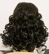 Fascinating Hot Sale Sexy Long Loose Black Doll Wig
