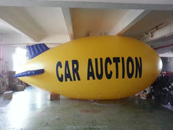 camera pvc blimp shape pvc balloon /inflatable blimp for sale