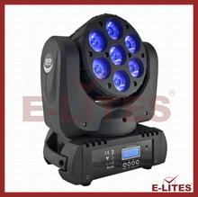 7 pcs 12w rgbw 12w stage light/wash dj led moving head/ led light 7x12w