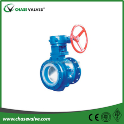 API 6D standard gear operated trunnion mounted ball structure oilfield valve