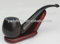 Black spoon style wooden cigarette pipes smoking pipes (FT-856H)