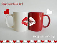 2016 latest gift ceramic coffee cup for Valentine's day gift set