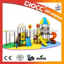 residencial 2014 de plástico al aire libre equipos zona de juegos para niños en edad preescolar yst10234
