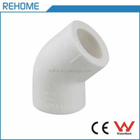 secure and durable white 45 degree elbow ppr pipe fittings