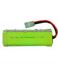 High Rate Ni-MH 7.2V SC Battery Pack for RC Cars