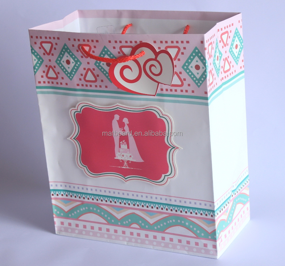 Wedding paper bag high quality paper bag for gift craft for Craft paper gift bags