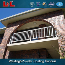 Aluminum pubilc handrail for road,20 years welding skill,powder coating surface