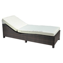 wicker recliner chair chaise lounger cushion