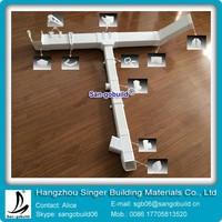Ghana Hotsale 5 inch /6 inch /7 inch PVC Rain Gutter And Roof Gutter Accessories