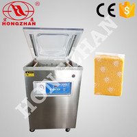 Hongzhan dz400 400mm sealing line meat fish cereal food vacuum sealer machine