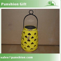 Solar rechargeable decorative garden lantern