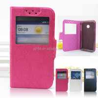 New product oracle lines leather flip case for HUAWEI Y330