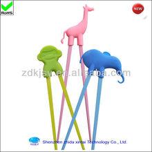 cute animal shape melamine reusable chopsticks for children learning