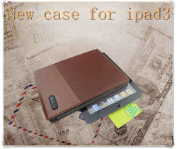 For iPad cover, leather smart case for ipad mini ,leather for ipad case with high quality