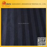 S6010 100% cotton black white striped satin fabric for home textile
