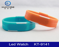 New design factory price colorful LED Watches Candy Color Silicone Rubber Touch Screen Watches