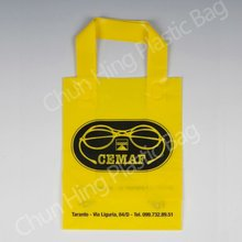 Flexi-loop handle Plastic tote bag/custom printed shopping bag