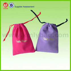 Various Colors Drawstring Velvet Pouch, Velvet Jewelry Pouch