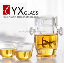 hot sale tea set high temperature resistant glass ear cup tea