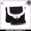 New arrival good quality size 28*22*10CM black crossover bag