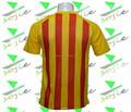 2015-2016 la temporada del club de fútbol de desgaste, amarillo y rojo camiseta de fútbol, la mejor calidad de fútbol jersey
