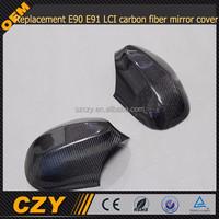 Replacement E90 E91 LCI carbon fiber mirror cover for BMW 3-SERIES
