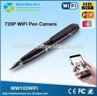 720P HD Ball-point Pen Video Camera Mini Wifi Pen Camera
