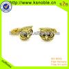 Custom logo or design animal shape metal gold cufflinks