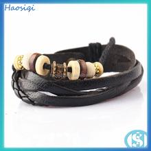 Handmade Fashion Bulk Mens Woven Braided Wrap Leather Bracelet Wholesale