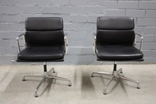 Canton Fair High Back Eames Leather Luxury Office Executive ChairEA205