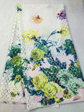 Beautiful Fashion Cupion Fabric/Cotton Guipure Lace Fabric/Charming Rose Flower Lace