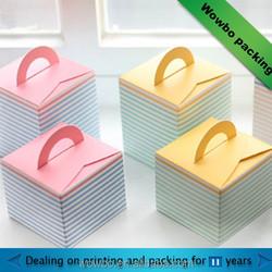Small cardboard cupcake take away box
