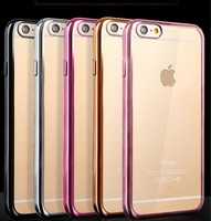 Hot Transparent Electroplating Mobile Phone Case,Mobile Case TPU for Iphone 6 Case