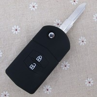 2015 new arrival 2 button for Mazda personalized key cover, custom silicone car key holder