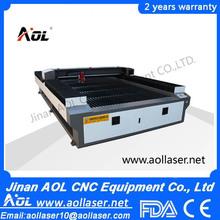 Aol 1325 cnc co2 utilizado madeira laser e de corte de metal e máquina de gravura de aço