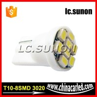 6000K White 168 2825 2827 8-SMD T10 LED Bulbs For Car Parking Position Light 194 led car light