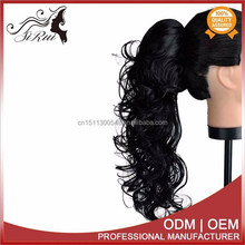 Wholesale synthetic kanekalon natural curl ponytail, two color hair extension