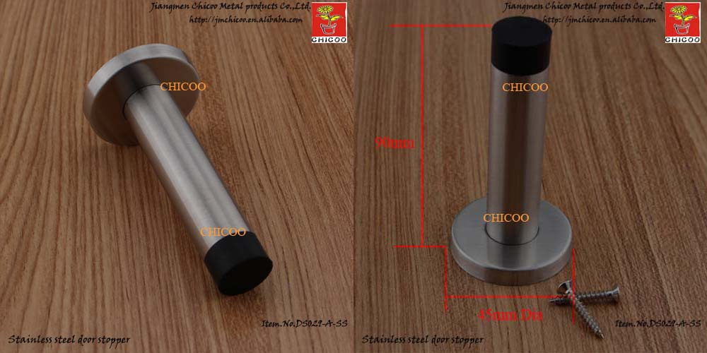304 Stainless Steel Wall Door Stoppers Wooden Door Stopper Glass