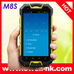 Rugged phone 3000MAH Original Snopow M8 M8S IP68 Android, rugged waterproof cell phone MTK6589 Quad Core 8.0MP Walkie Talkie