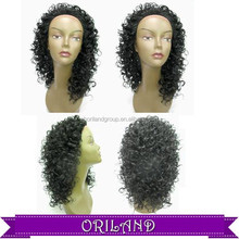 curly wave women long style middle part afro short curly synthetic wig