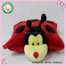 cuddle stuffed pillow toy ladybug for kids