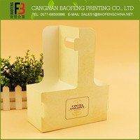 Competitive Price Customized Disposable Paper Cup Holder, Coffee Cup Holder