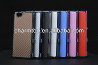 Carbon Fiber Mobile Phone Cover For Sony Xperia Z1 Compact
