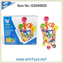 74pcs Best Selling Products For Kids track bean ABS bricks art building block toy