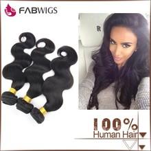Fabwigs 7A body wave unprocessed wholesale 100% virgin brazilian hair