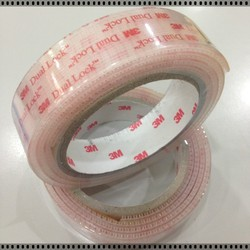 3M SJ3560 transparent Dual Lock Reclosable Fastener clear hook and loop tape, clear velcro tape for bond to metals, glass