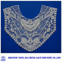 YJC14689-1 China wholesale sexy neck design of blouse fabric trimming feathers