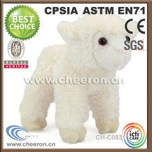 Adorable little stuffed white sheep and goat sales