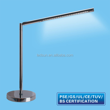 Indoor Metal Base LED Reading Light, Table Lamp for Student Reading