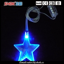 LED Glowing Little Star Necklace Flashing Hanging Light-up Kids Toys Birthday Party Favors